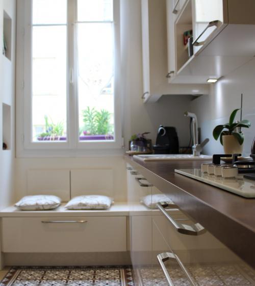rénovation cuisine couloir - Biarritz -