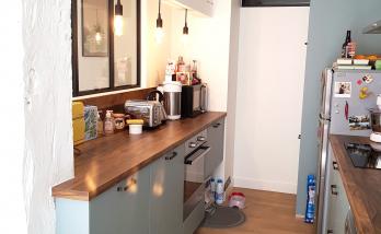 Rénovation de cuisine suite pose revêtement sol et verrière sur couloir - Oloron-Sainte-Marie - 64400 -