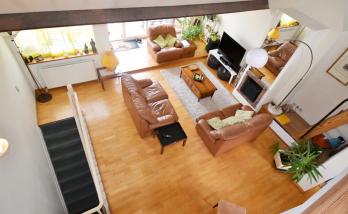 rénovation parquet rez de chaussée chêne massif - vue de la mezzanine - Saint-Jean-de-Luz - 64500 –