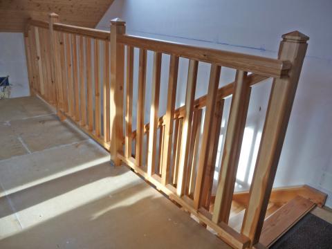 Escalier bois avec garde corps pour montée aux combles - Bayonne -  64100 -