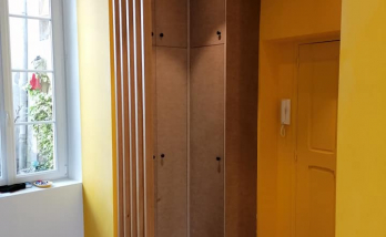 aménagement entrée maison avec claustra en chêne - Bayonne -