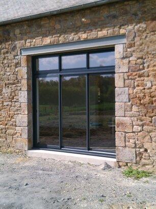 Baie vitrée profilé aluminium - Ciboure - 64189 -