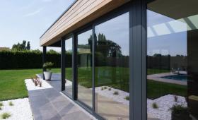 Véranda vitrée aluminium et bois - Saint-Pee-sur-Nivelle - 64495 -