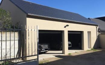 Garage double avec porte service et toiture eternit - Anglet -