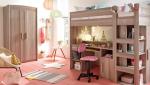 parquet peint en rose pour chambre enfant