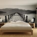 Chambre à coucher papier peint trompte l'oeil