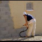 application crépi de façade