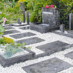 jardin minéral avec fontaine